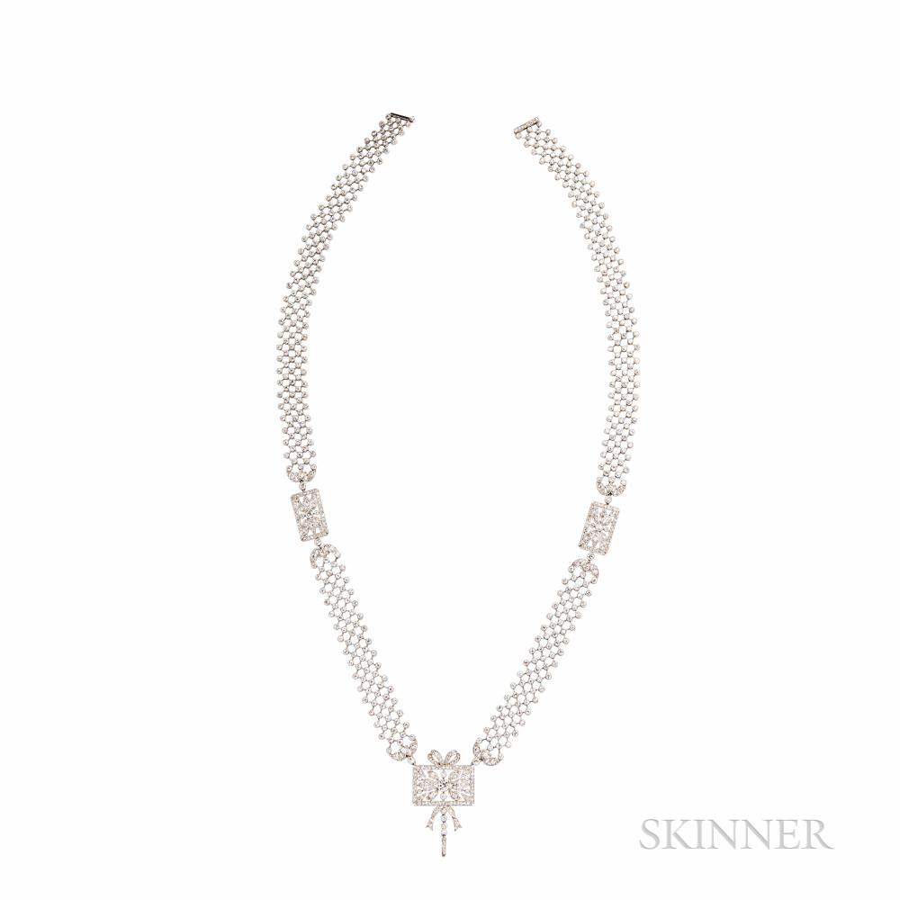 Dreicer & Co. Platinum and Diamond Sautoir Necklace