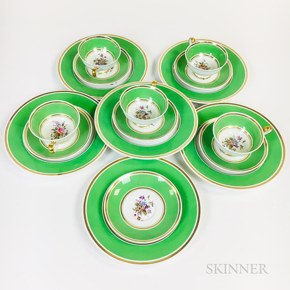 Copeland Spode Porcelain Dessert Service for Six
