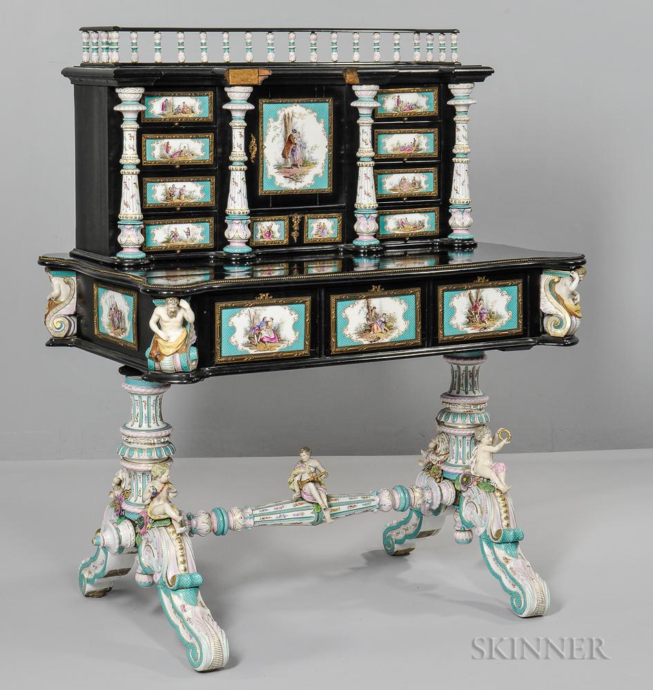 Meissen-style Porcelain Desk