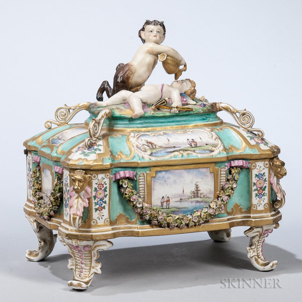 Dresden Hand-painted Porcelain Casket