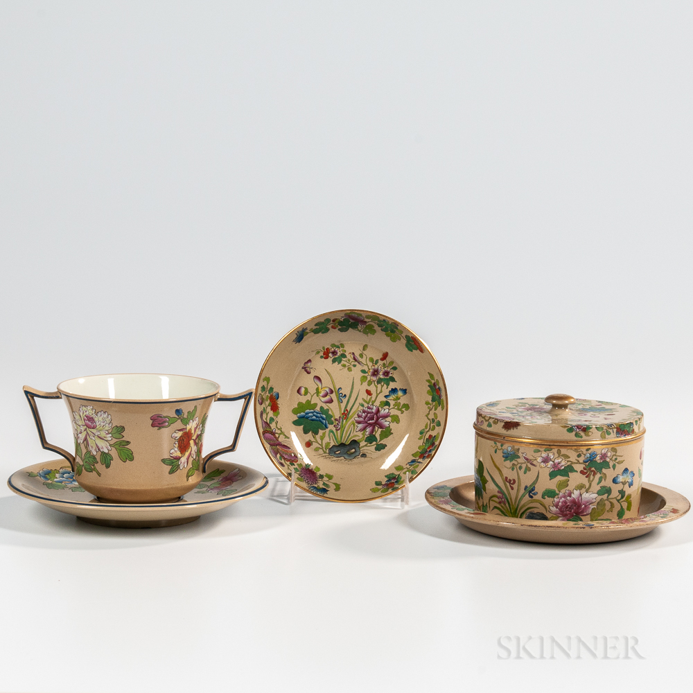 Three Wedgwood Glazed Drabware Items