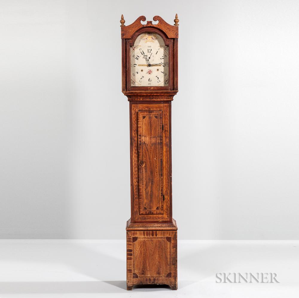 Grain-painted Pine Tall Clock