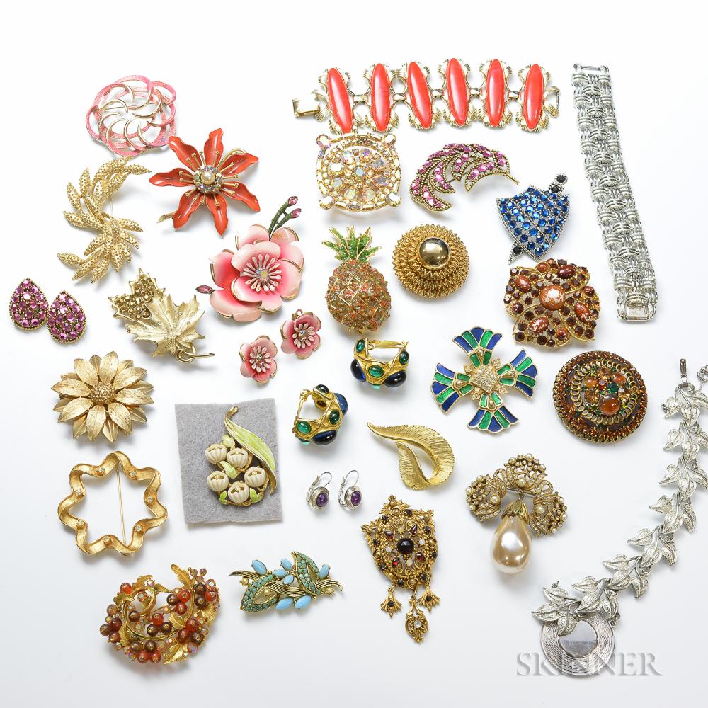 Large Lot of Designer Costume Jewelry