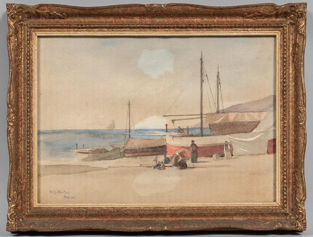 William Edward Norton and Studio (American, 1843-1916)      Shore Scene