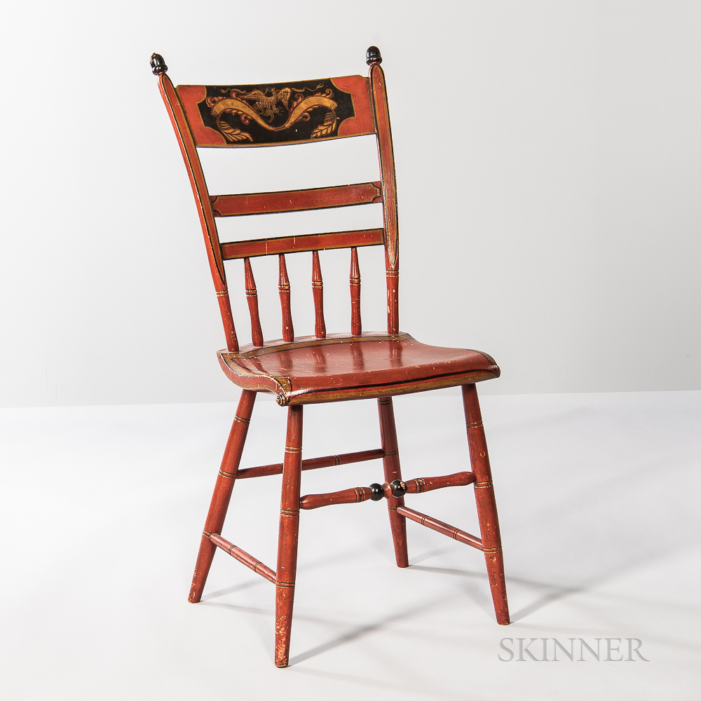 Paint-decorated Fancy Chair