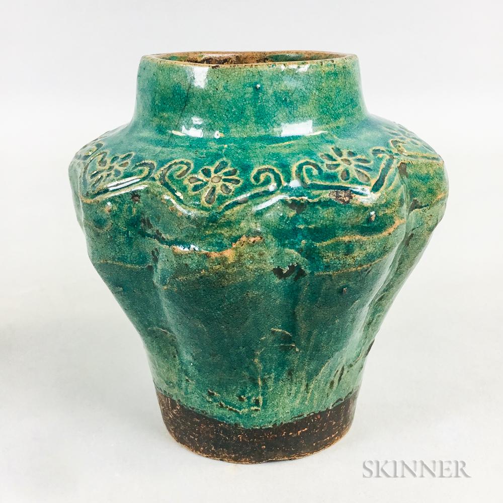 Turquoise-glazed Pottery Jar