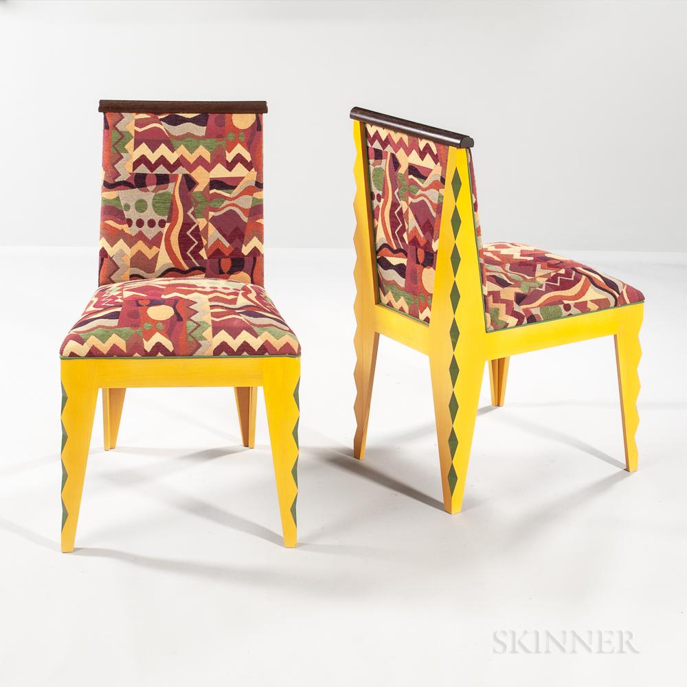 "Two Mitch Ryerson ""Matisse"" Side Chairs"