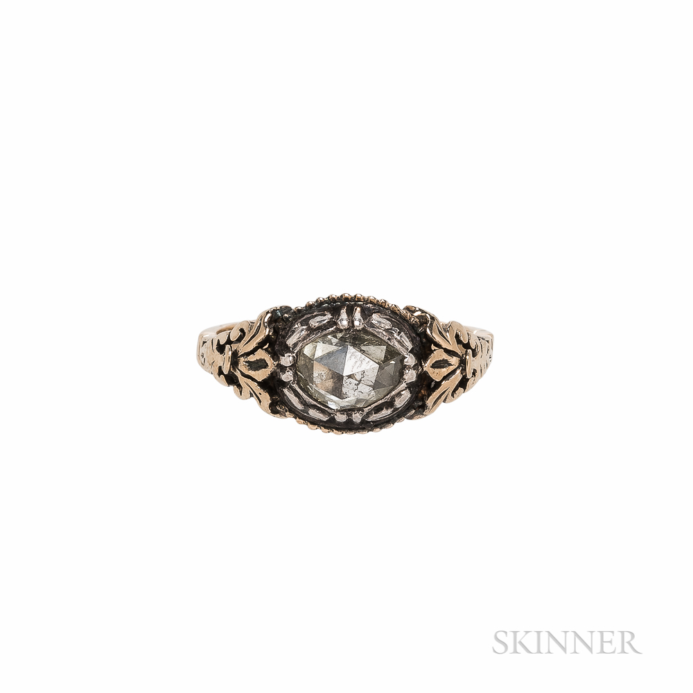 Georgian-style 14kt Gold and Rose-cut Diamond Ring