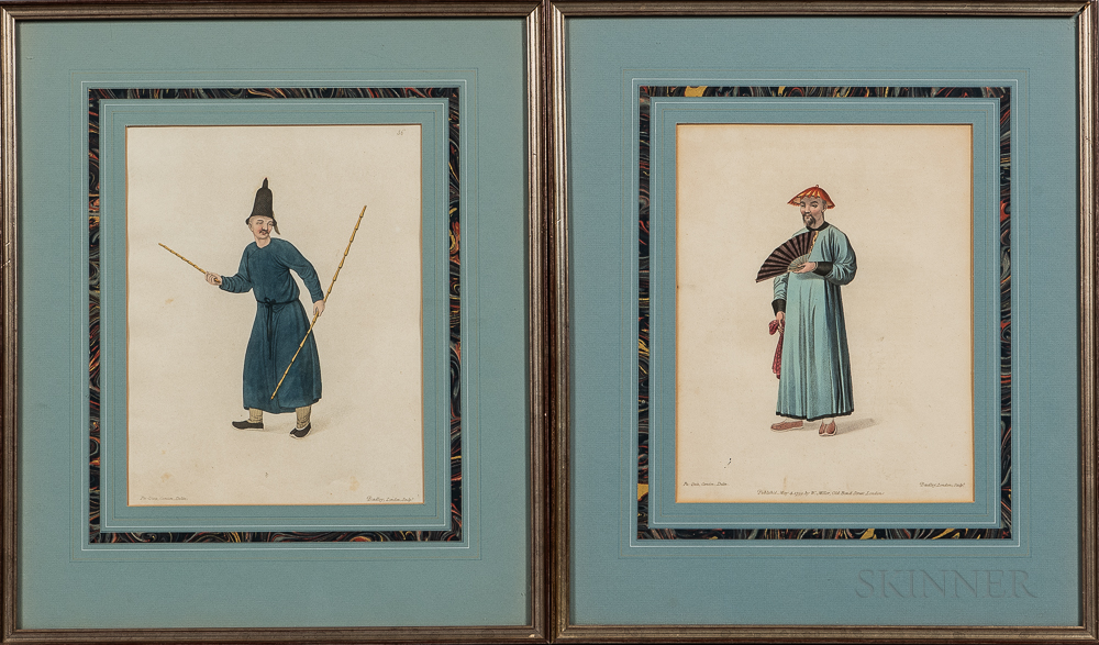 "Two Prints ""A Boschee"" and ""A Mandarin in His Summer Dress,"""