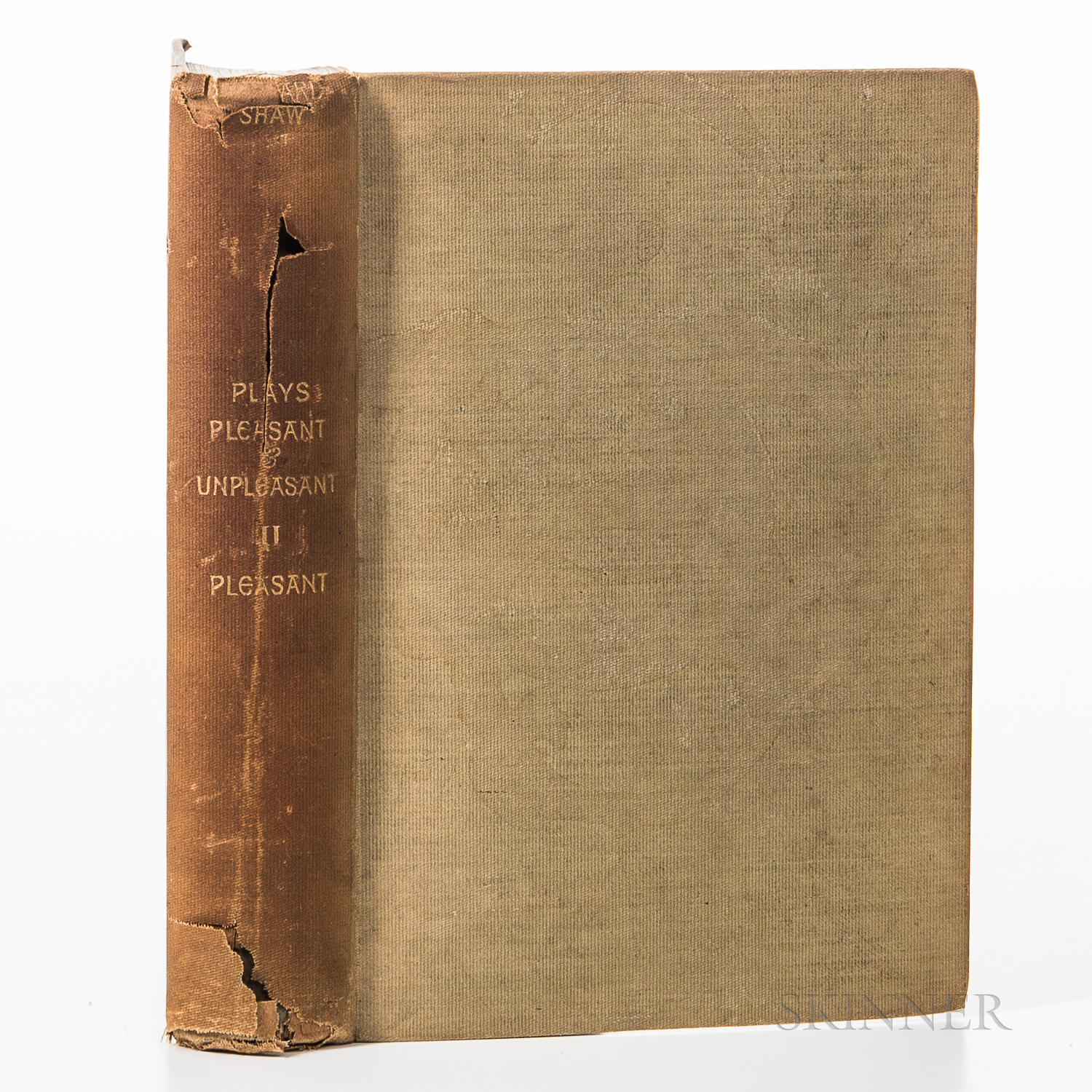 Shaw, Bernard (1856-1950)Plays Pleasant & Unpleasant: The Second Volume, containing the Four Pleasant Plays.