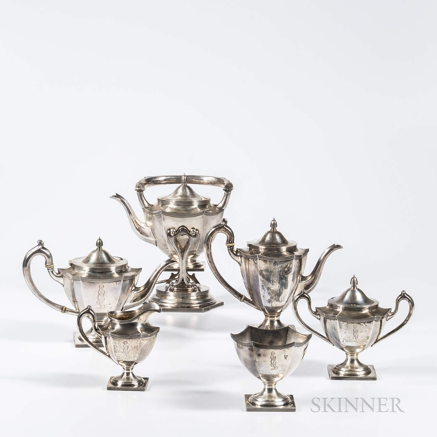 Six-piece Sterling Silver Tea and Coffee Service