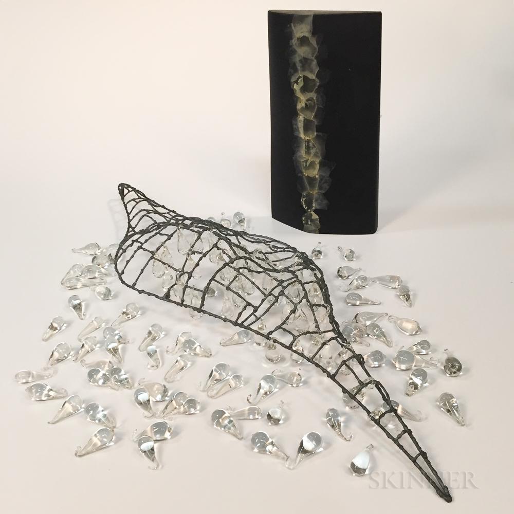 Two Hiromi Masuda Art Glass Sculptures