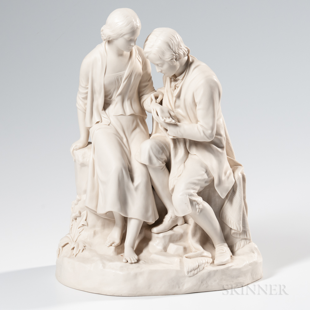 Copeland Parian Group of Burns and Highland Mary