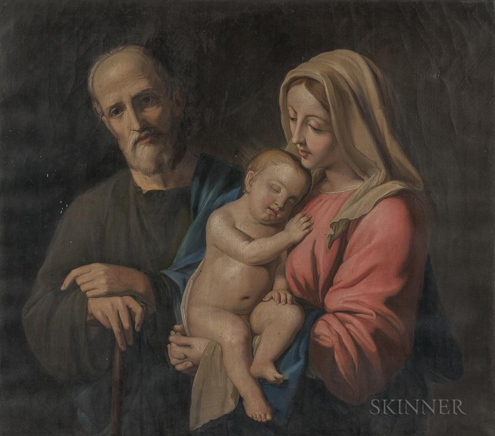 Continental School, 19th Century,  After Giovanni Battista Salvi (Il Sassoferrato) (Italian, 1609-1685)      The Holy Family