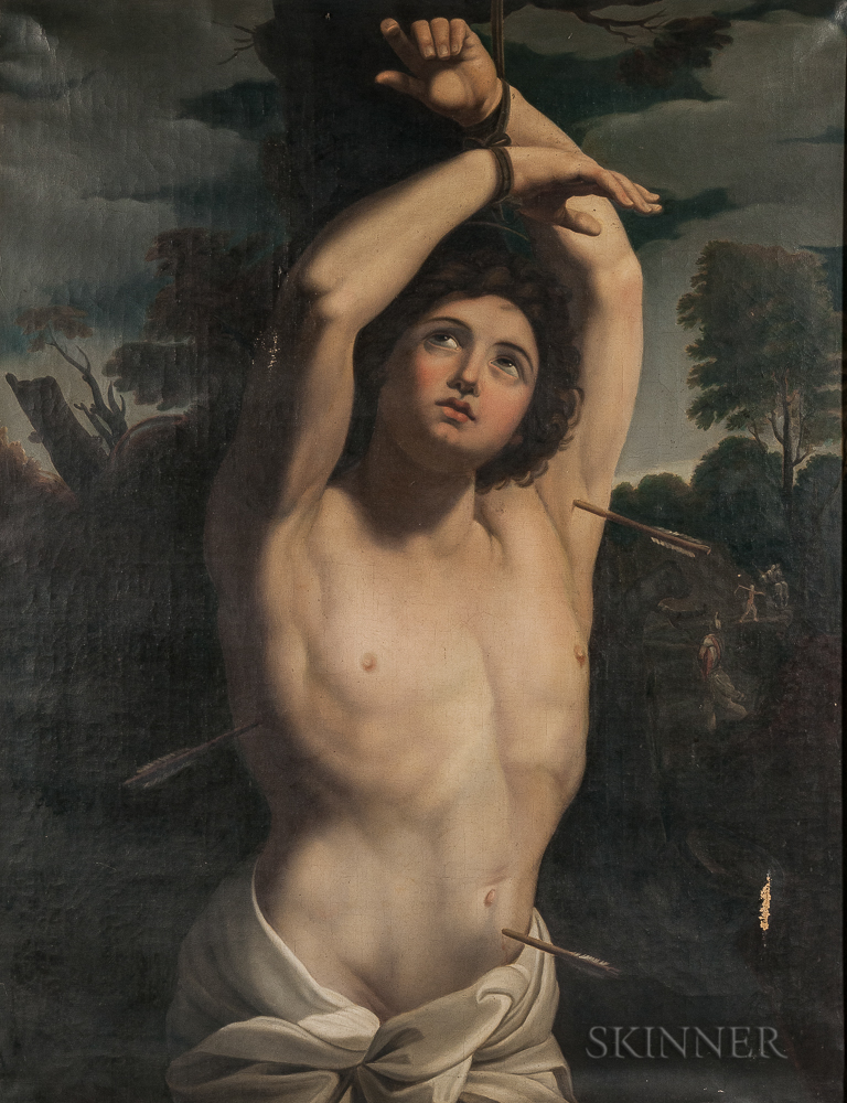 Italian School, 19th Century, After Guido Reni (Italian, 1575-1642)      St. Sebastian