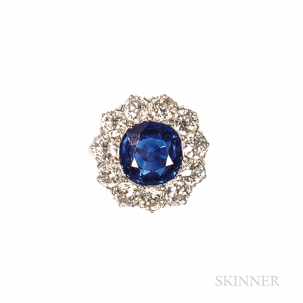Antique Sapphire and Diamond Ring, Black, Starr, & Frost