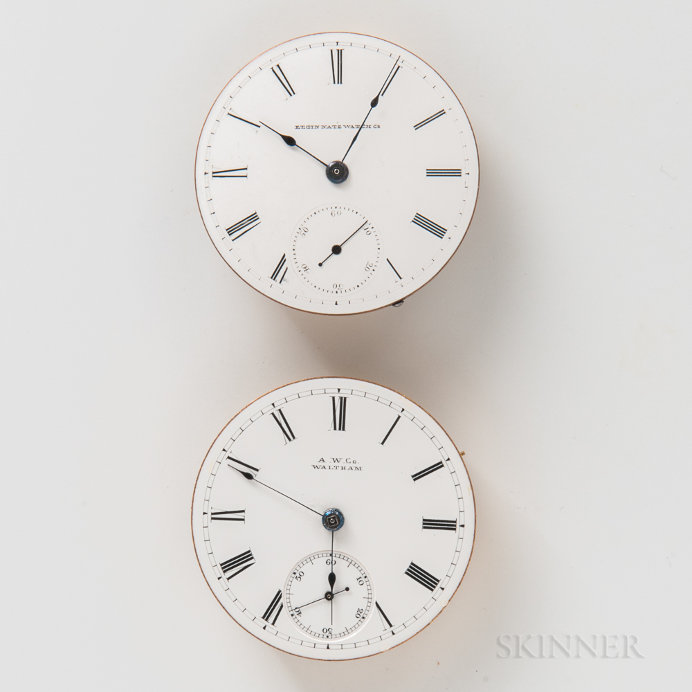 Two American Watch Movements and Dials