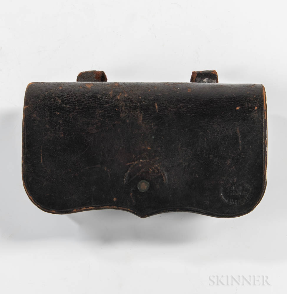Civil War-era Burnside Cartridge Box and Cartridges