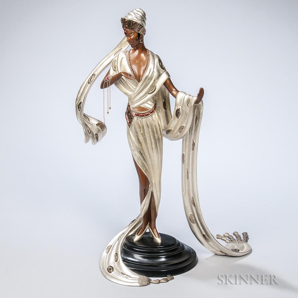 Romain De Tirtoff (Erté) (Russian, 1892-1990)      Bronze Figure of Scheherazade