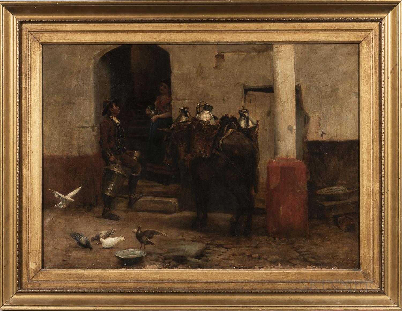 John Haynes Williams (British, 1836-1908)      Milkman of Salamanca