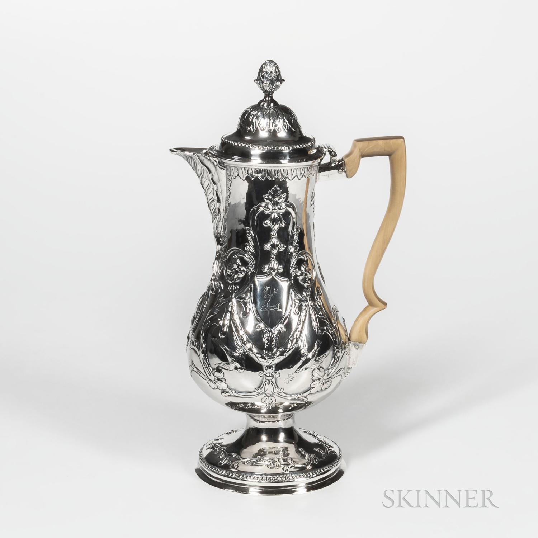 George III Irish Sterling Silver Coffeepot