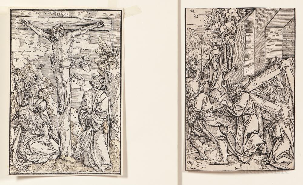Schäufelein, Hans Leonhard (c. 1480-1540) Three Woodcuts of the Crucifixion, c. 1505.
