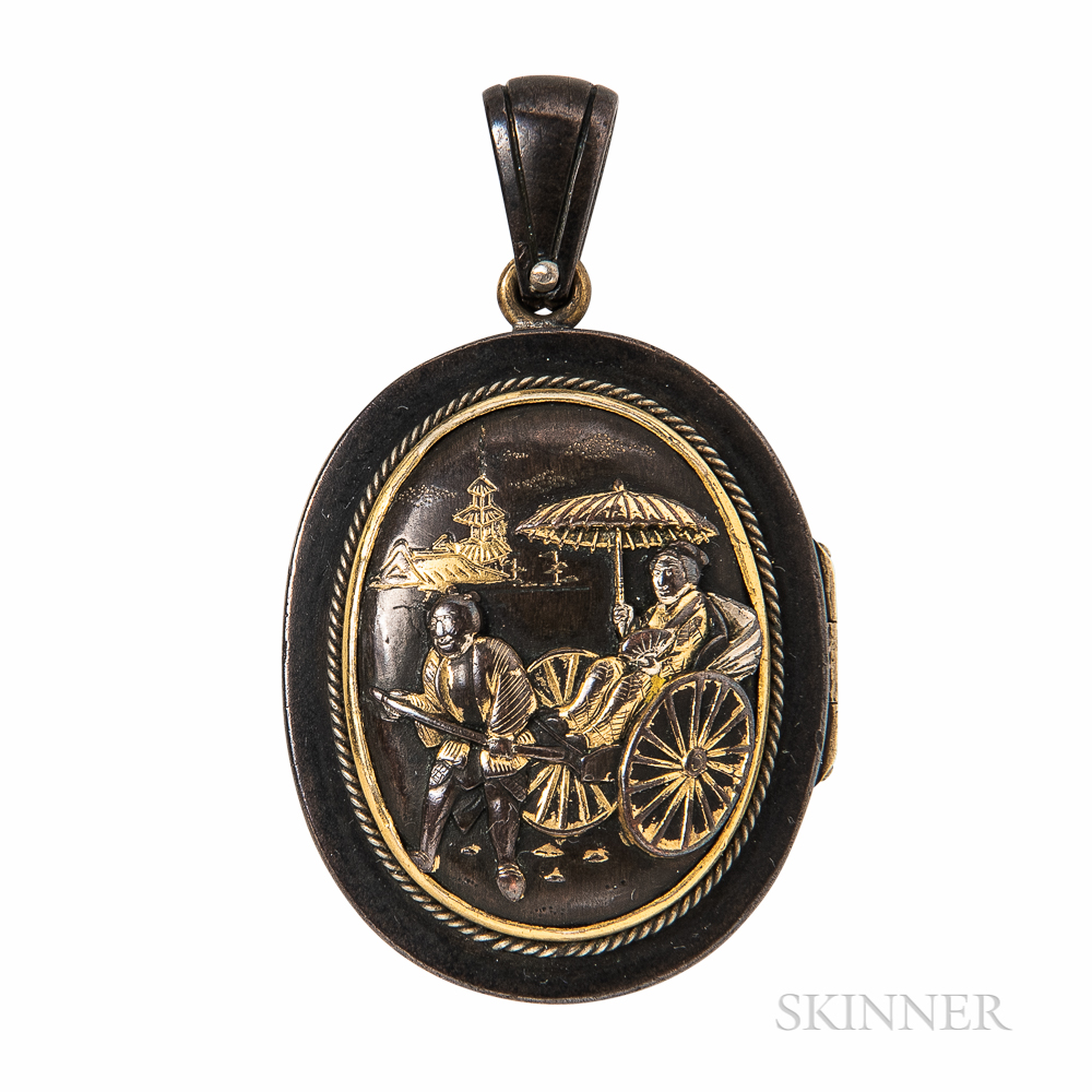 Antique Shakudo Locket