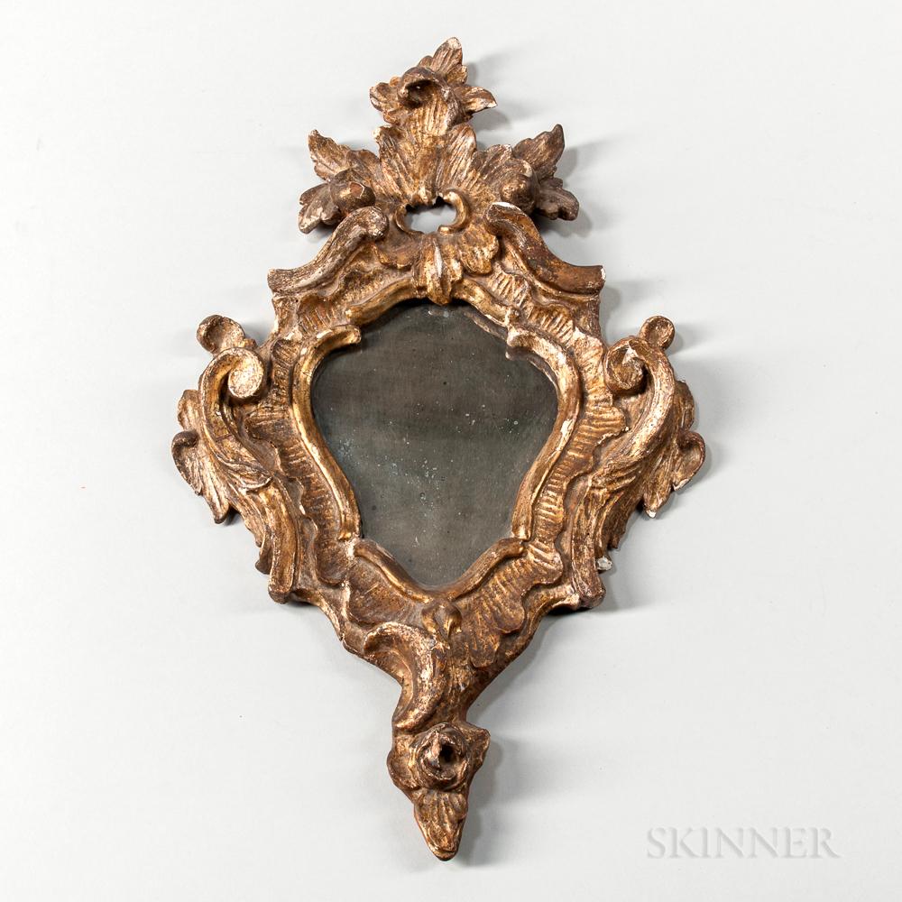 Gilt Carved Rococo Mirror