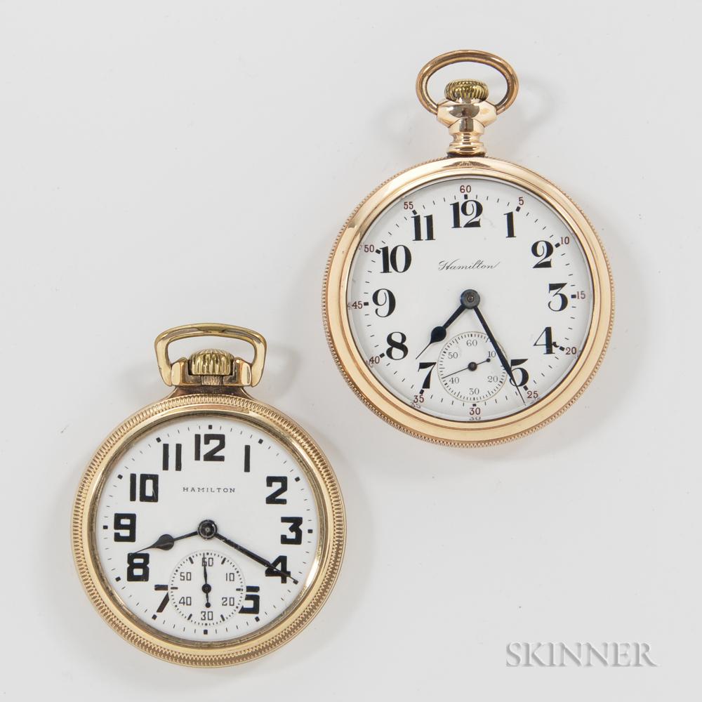 Two Hamilton Open-face Watches