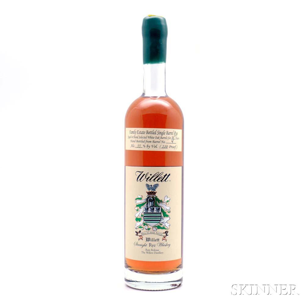 Willett Rye 4 Years Old, 1 750ml bottle