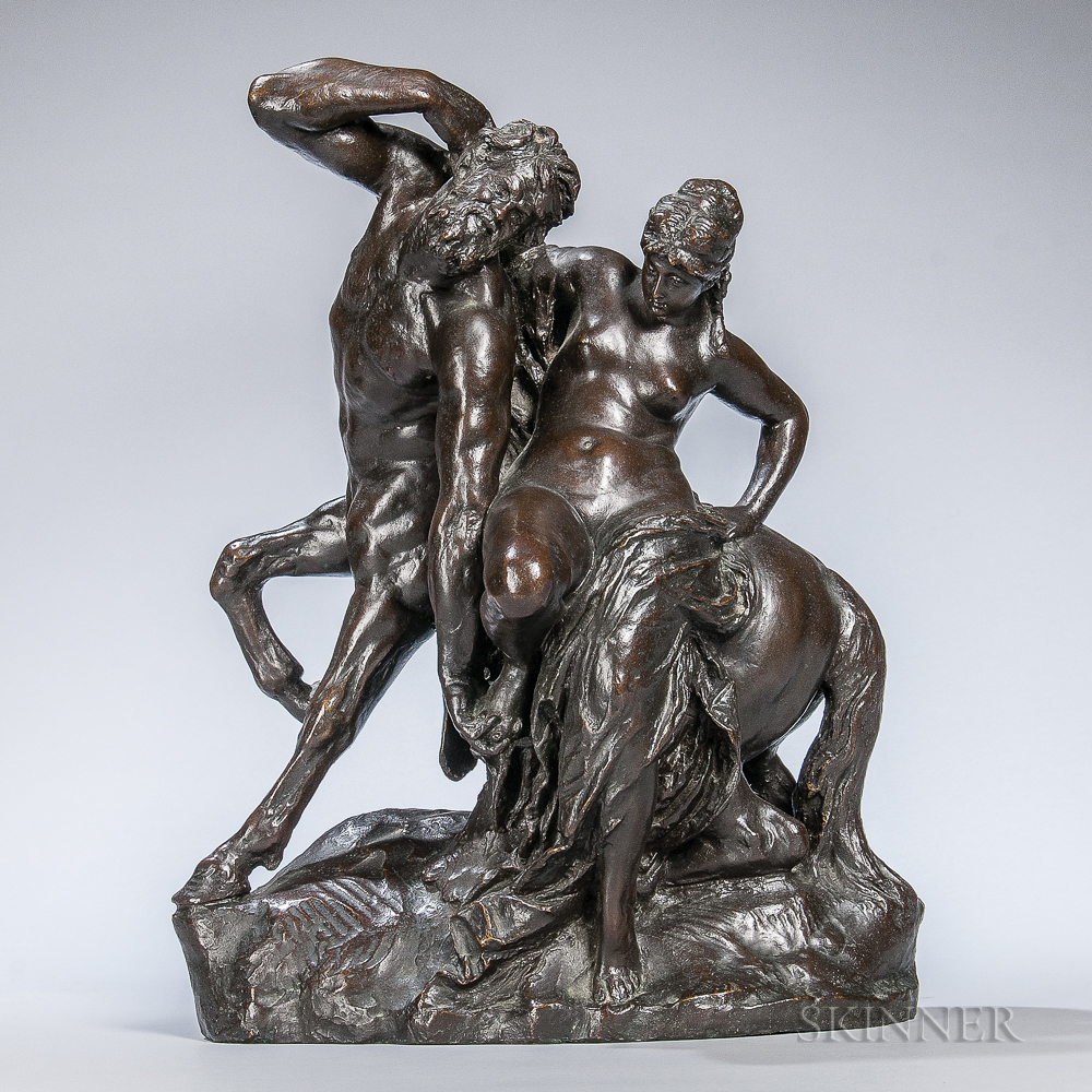 After Reinhold Begas (German, 1831-1911)       Bronze Figure of a Centaur and Nymph