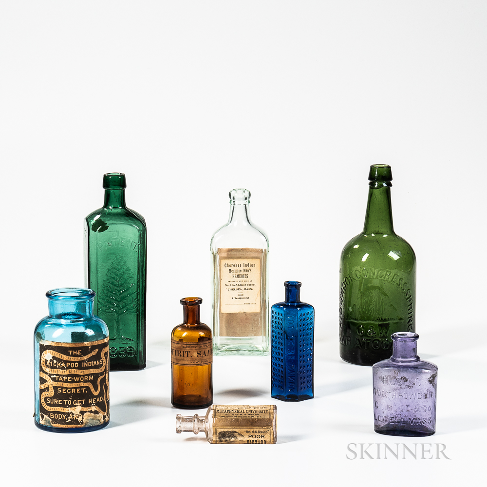 Eight Medicine and Related Bottles
