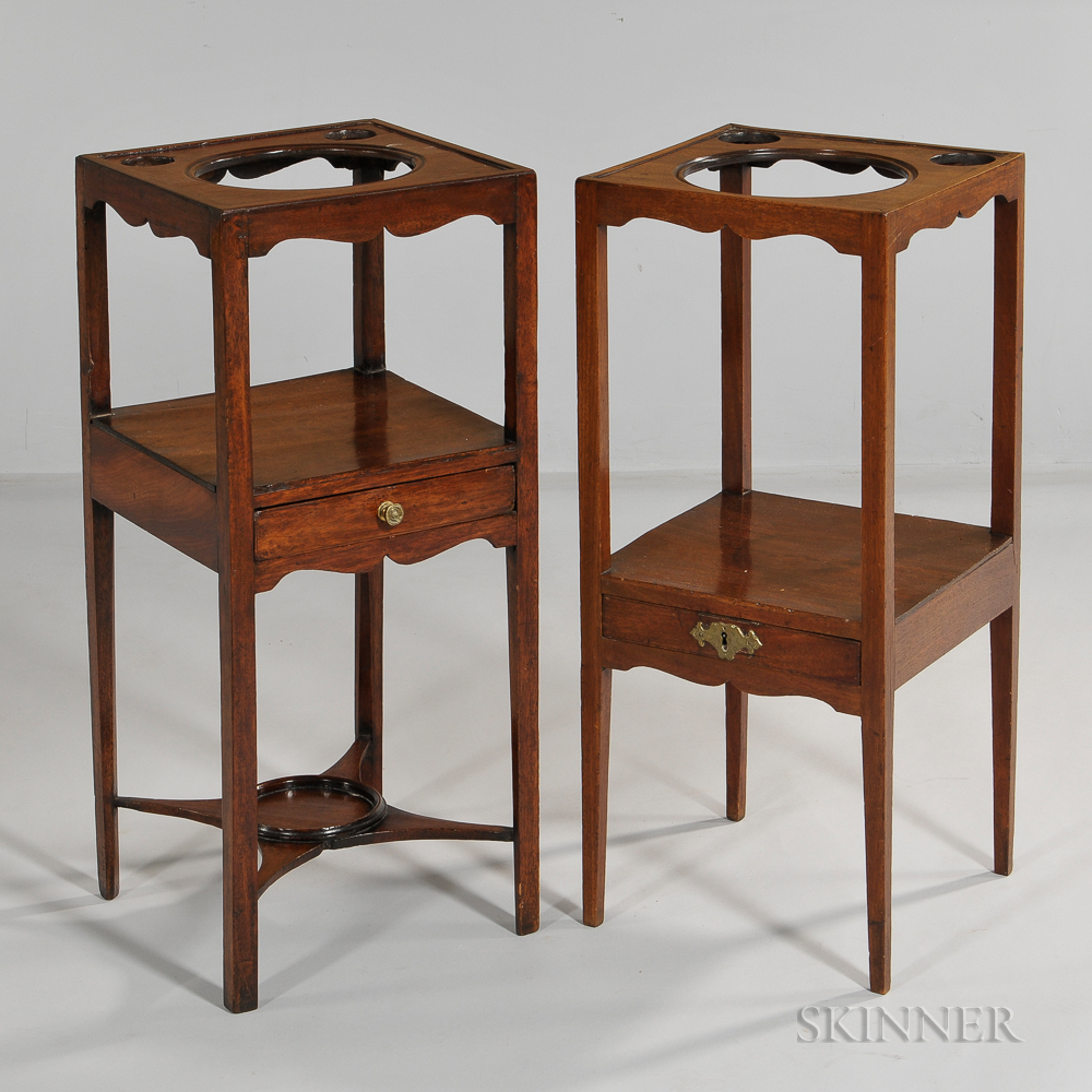 Two George III Mahogany Stands