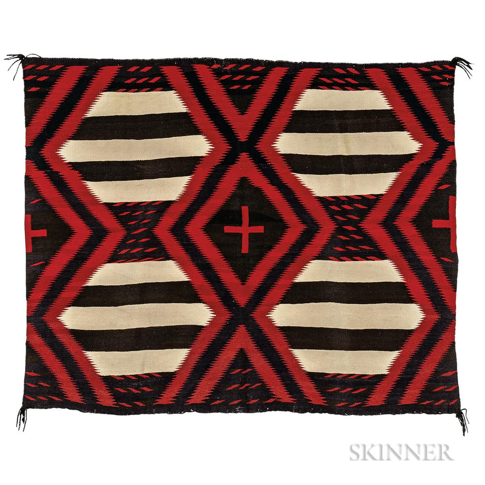 Navajo Man's Wearing Blanket