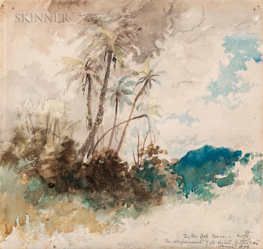 John La Farge (American, 1835-1910)      Passing Storm, Samoa