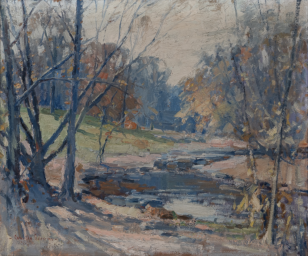 Camillo Adriani (American, 1908-1990)      Landscape with Stream