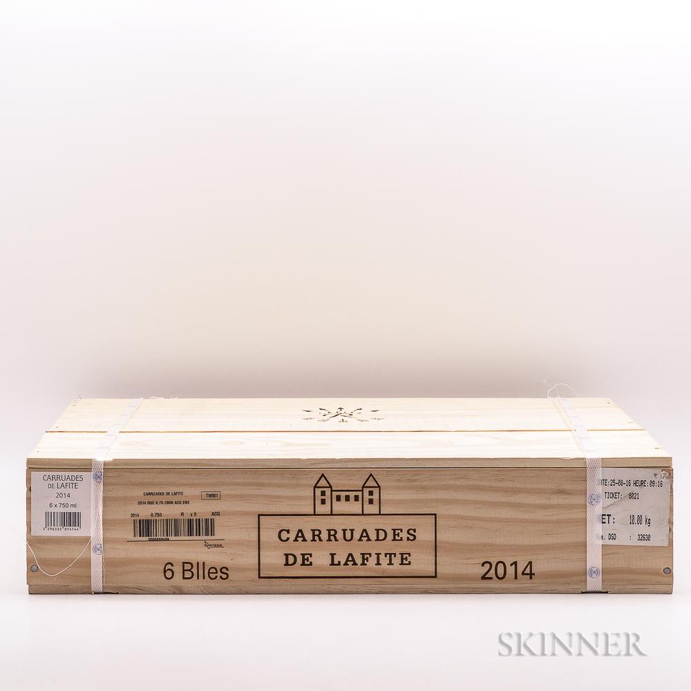 Carruades de Lafite 2014, 6 bottles (banded owc)