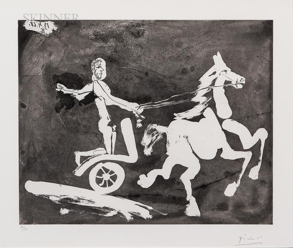Pablo Picasso (Spanish, 1881-1973)      Télévision - Course de chars à l'antique I