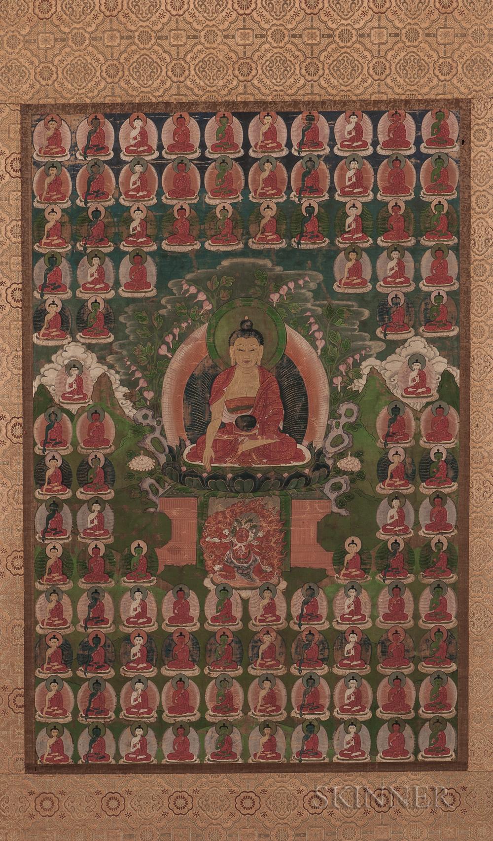 Thangka Depicting Bhaisajyaguru