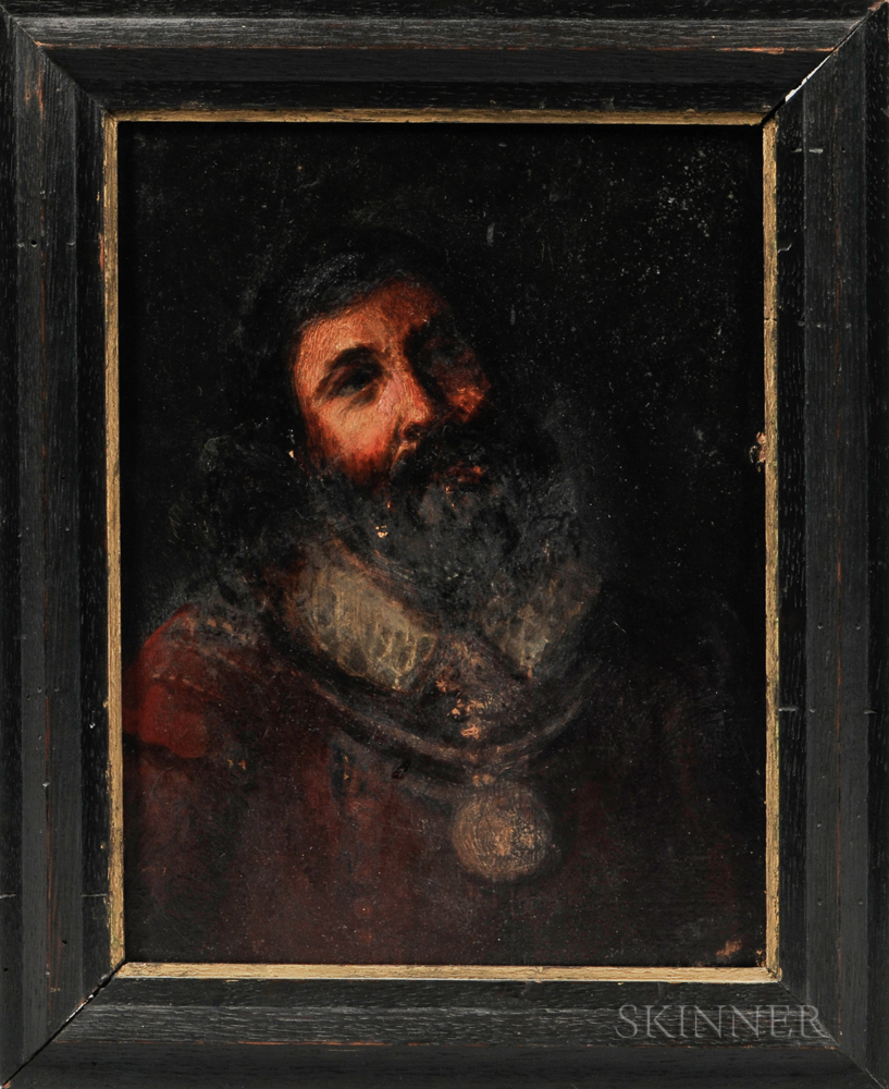 Dutch or Flemish School, 19th Century    Bust-length Portrait of a Man in a Ruff