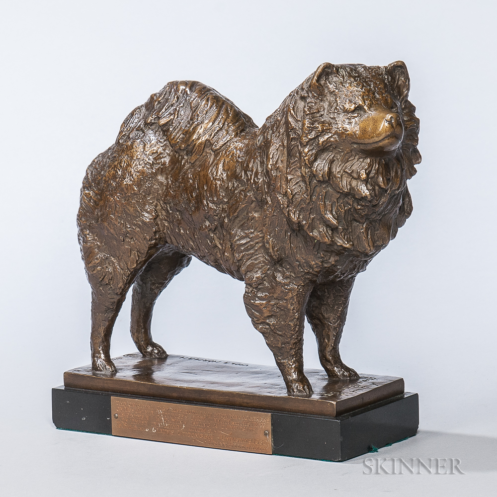 After Viola Norman (American, 1889-1935)       Bronze Figure of a Chow