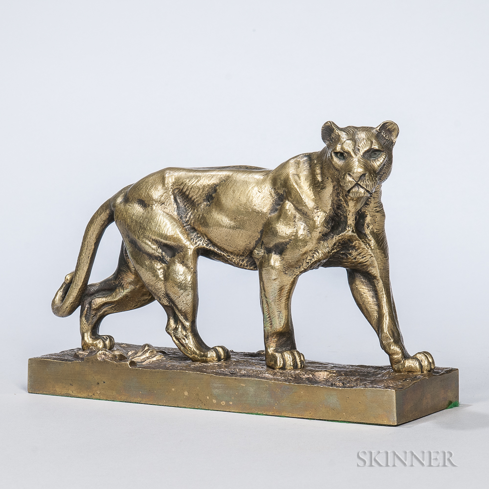 After Hippolyte Heizler (French, 1828-1871)       Bronze Figure of a Lion