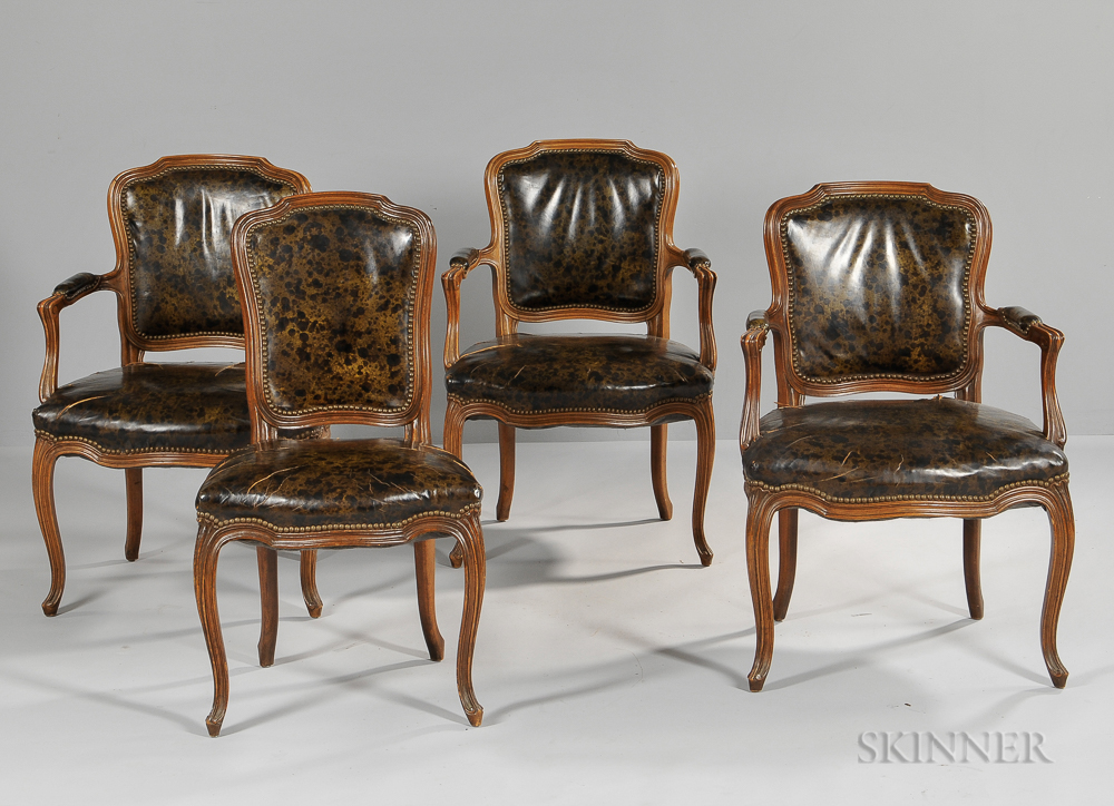 Four Louis XV-style Chairs