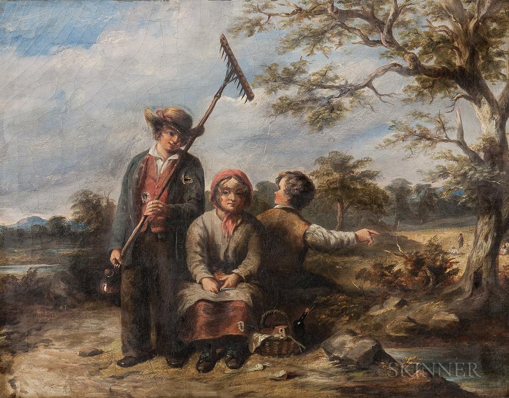 William Lawson (British, fl. 1819-1864)    Harvest Scene