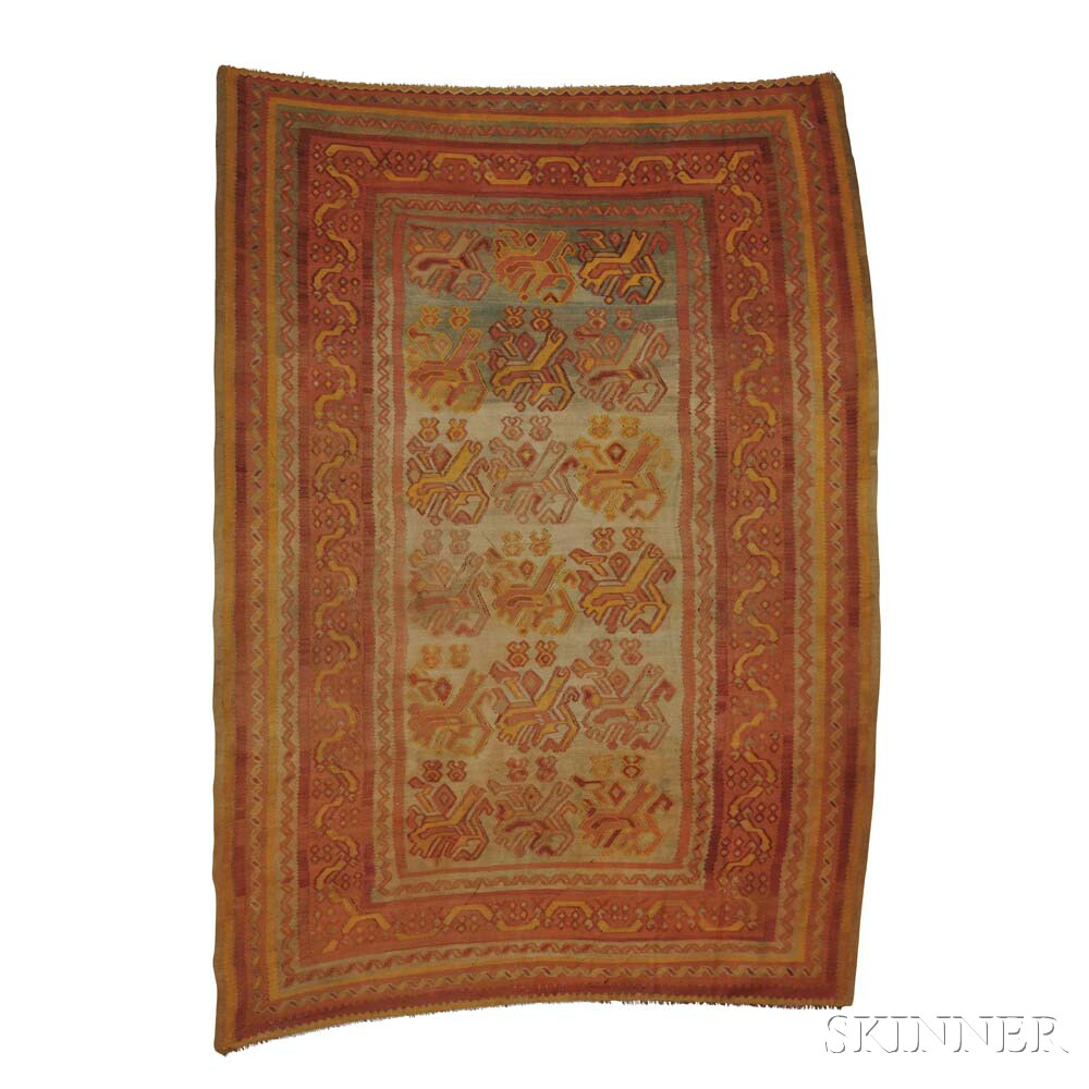 Antique Ushak Kilim
