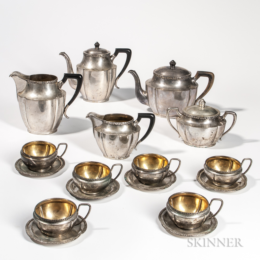 Eleven-piece Austrian .800 Silver Tea and Coffee Service