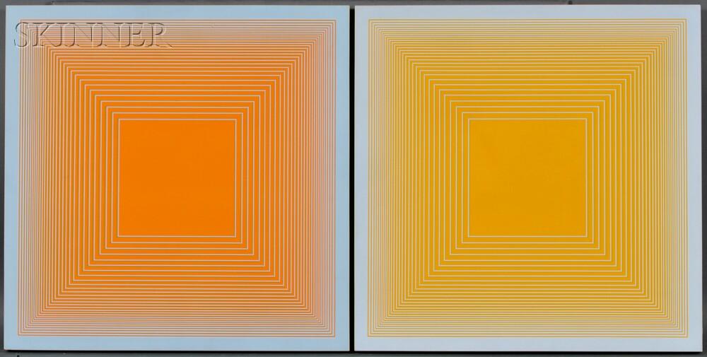 Richard Anuszkiewicz (American, b. 1930)      Two Works: B