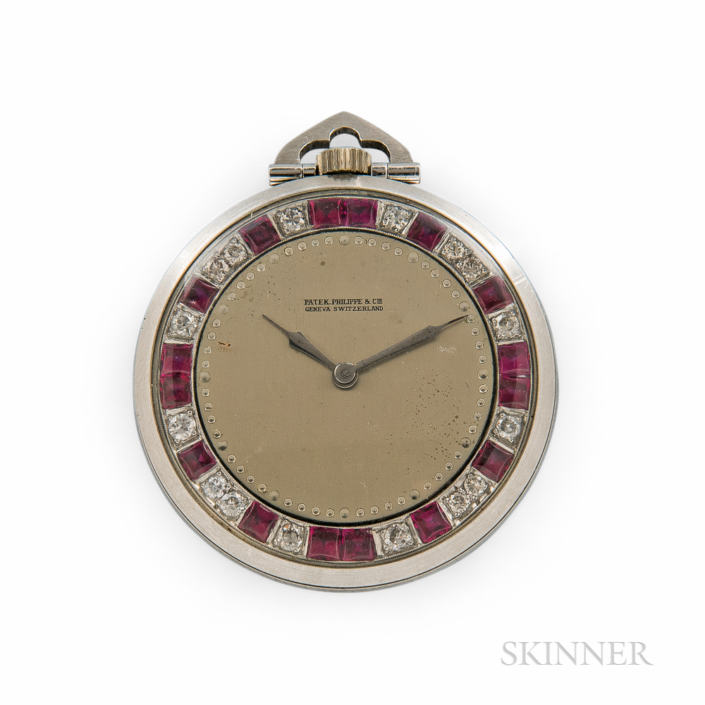 Patek Philippe & Co. Diamond and Ruby Open-face Watch