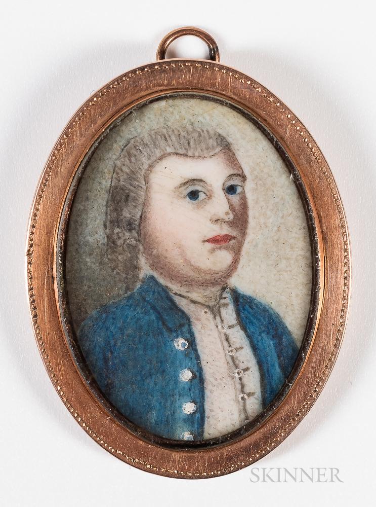 American School, 18th Century      Portrait of Major Nathaniel Ruggles of Roxbury, Massachusetts