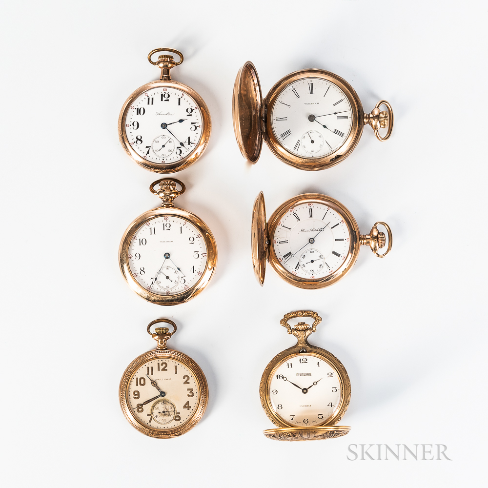 Five American Watches and a Swiss Watch
